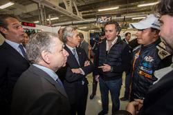 Jean Todt, FIA President, Alejandro Agag, CEO Formula E and Salvador Duran, Team Aguri