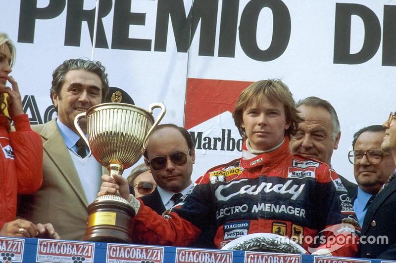 Didier Pironi, primera posición en el podio