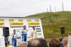 Podium: Race winner Jason Plato, Subaru Team BMR; Colin Turkington, Subaru Team BMR; Jack Goff, Team IHG Rewards Club