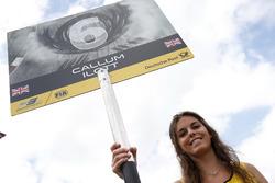 Gridgirl of Callum Ilott, Van Amersfoort Racing, Dallara F312 - Mercedes-Benz