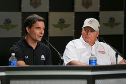 Jeff Gordon, Hendrick Motorsports Chevrolet and team owner Rick Hendrick