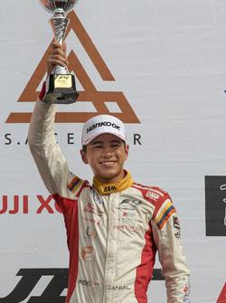 Podium: race winner Danial Frost