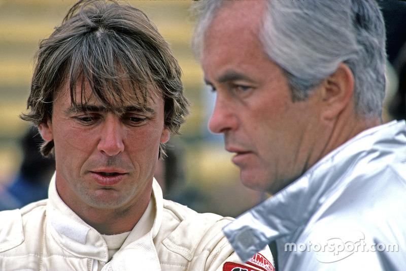 Rick Mears with Roger Penske, 1980.