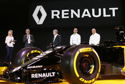 (L to R): Patrice Ratti, Renault Sport Cars General Manager with Jerome Stoll, Renault Sport F1 President; Cyril Abiteboul, Renault Sport F1 Managing Director and Frederic Vasseur, Renault F1 Team Racing Director