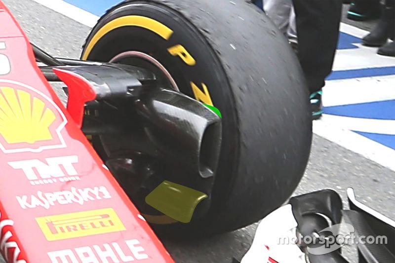 Ferrari SF16-H brake duct detail