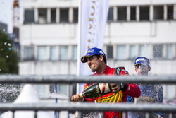 Third place Lucas di Grassi, ABT Schaeffler Audi Sport celebrates on the podium
