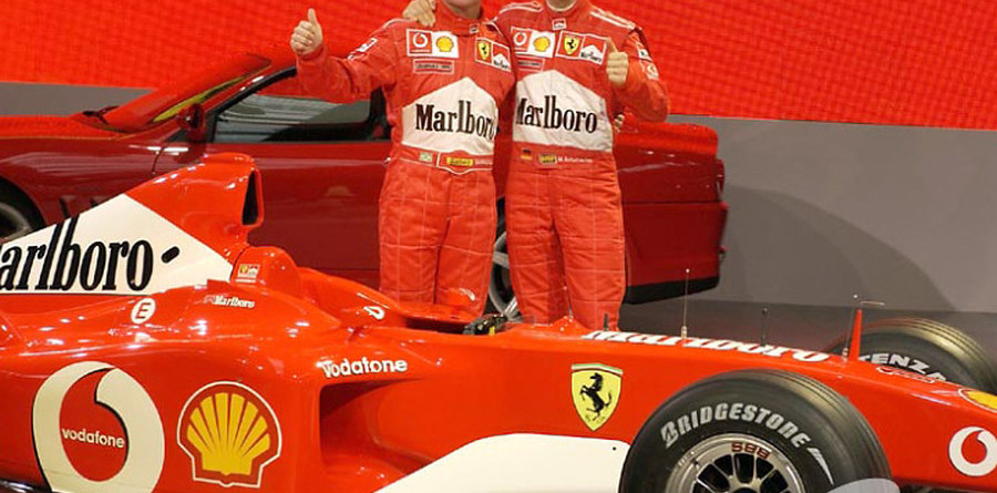 Barrichello proud to be alongside Schumacher