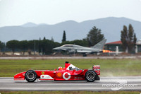Schumacher beaten by fighter jet
