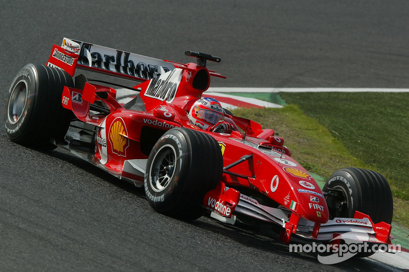 Last race with Ferrari for Barrichello