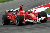 Schumacher leads in Malaysian GP last practice