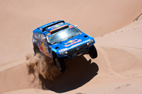 Al-Attiyah takes over Car lead from Sainz