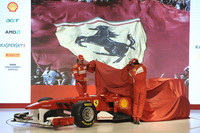 Ferrari unveiled the scarlet red F150 in Maranello