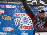 Harvick takes win in California with last lap pass