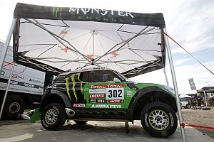 Dakar Team X-raid pre New Year's Day start