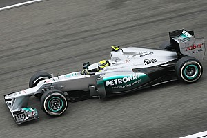 Mercedes locks up front row in China