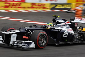 Formula 1 Bruno Senna saves trying Monaco day for Williams