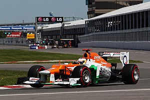 Formula 1 Force India continued to show strong form in Monteal