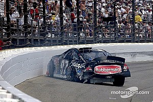 NASCAR Special feature Kurt Busch testing the safer barrier Brickyard 400 2002 - Video