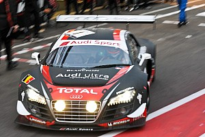 Audi on second row at Spa 24 Hour GT race