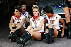 F1 Grid Girls and drivers girlfriends pictured at the track July 2012