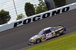 NASCAR Sprint Cup Race report Truex Jr. paces the Toyota contingent at Pocono, finishes third