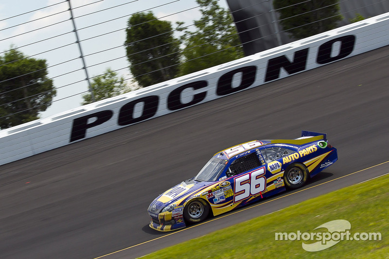 Truex Jr. paces the Toyota contingent at Pocono, finishes third