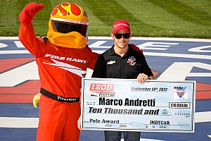 Andretti won the pole position at MAVTV 500