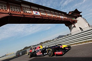 Formula 1 Practice report Vettel places his Red Bull Renault on top in Korean GP Friday practices