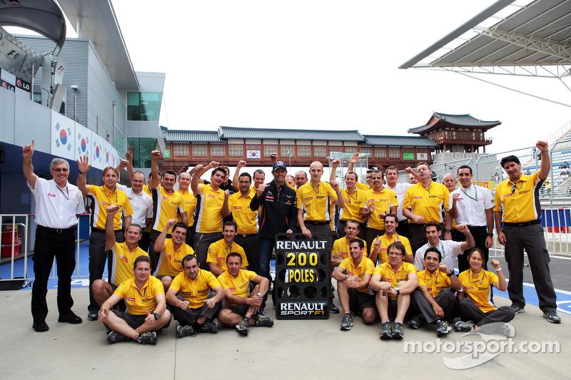 Renault engines secure 200th pole in Formula 1 at Korean Grand Prix
