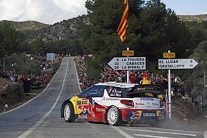 WRC Leg report Loeb takes lead in his Citroen on day two of Rally Catalunya