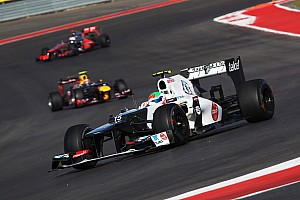 Formula 1 Qualifying report Lack of grip cause disappointment on Sauber qualifying results for US GP