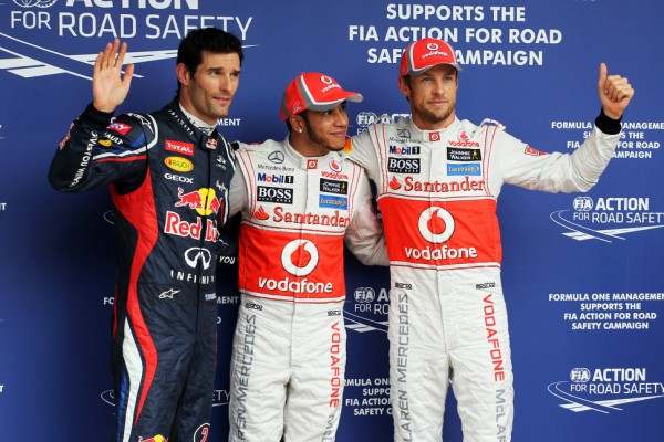McLaren's Hamilton and Button lock up Brazlian GP front row
