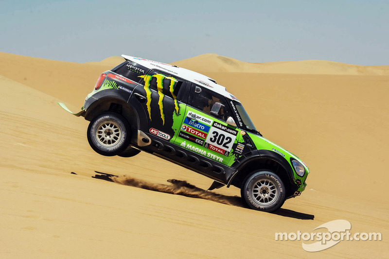 Peterhansel claims Car lead for Mini team on day 2 of Dakar contest