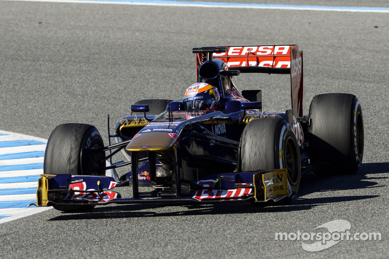 Jean-Eric Vergne in Toro Rosso for first time at Jerez testing