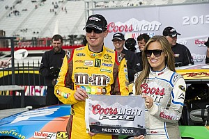 NASCAR Sprint Cup Qualifying report Bristol pole puts Kyle Busch in unfamiliar territory