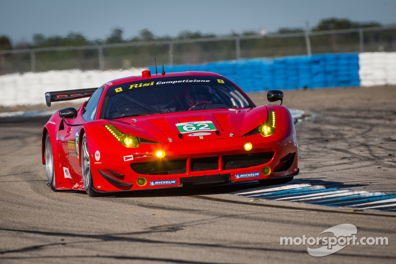 The No.62 Risi Competizione Ferrari held 2nd in GT after 4 hours in Sebring