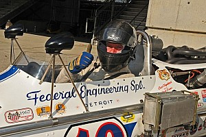 Rob and Chris Dyson drive vintage Indy cars around Indianapolis