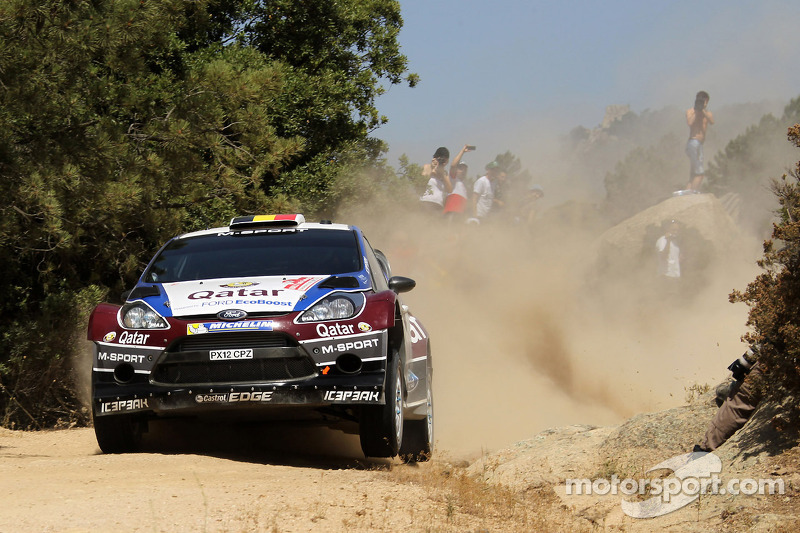 Qatar M-Sport drivers after day 2 of Rally Sardegna