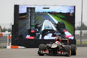 Lotus' Grosjean set the fourth fastest time on the opening day of the German GP