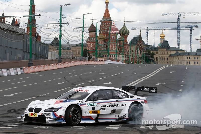 A spectacular DTM display in the centre of Moscow