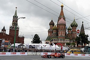 Formula 1 Special feature Kobayashi spectacular in rainy Moscow