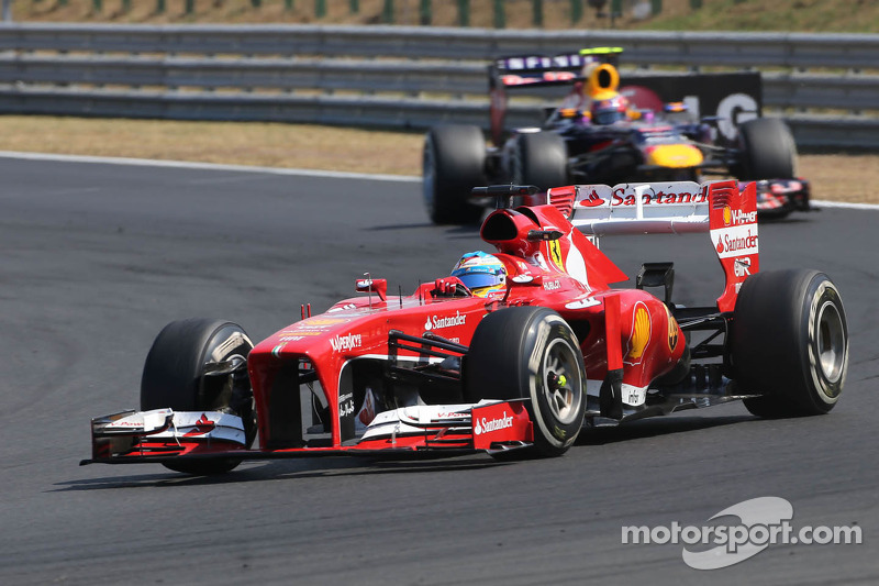 Alonso and Massa in the points on the Hungarian GP