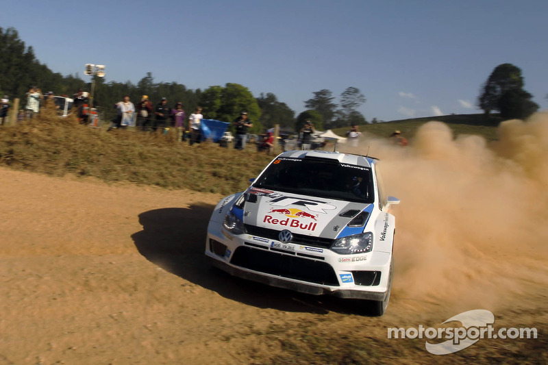 Volkswagen's Sebastien Ogier has one hand on the World Championship title