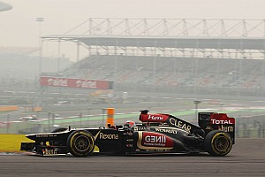 Formula 1 Practice report Lotus E21 demonstrated strong potential in Friday's practice session at India