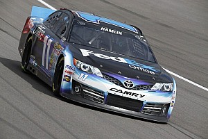 NASCAR Sprint Cup Qualifying report Hamlin wins Martinsville pole with track-record lap