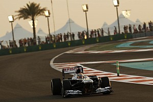 Formula 1 Qualifying report Maldonado qualified 15th with Bottas 16th for tomorrow's Abu Dhabi GP