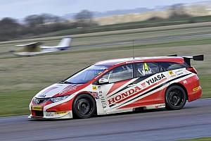 Teams test their 2014 machines at Thruxton