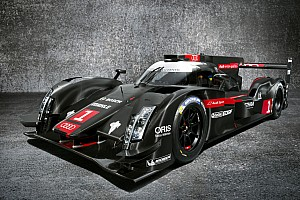 Audi with three R18 e-tron quattro cars at Le Mans