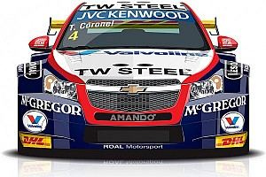 Tom Coronel presents livery Roal Motorsport Chevrolet car for 2014 - video
