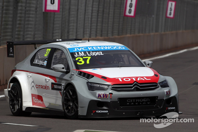 López wins first pole for Citroën